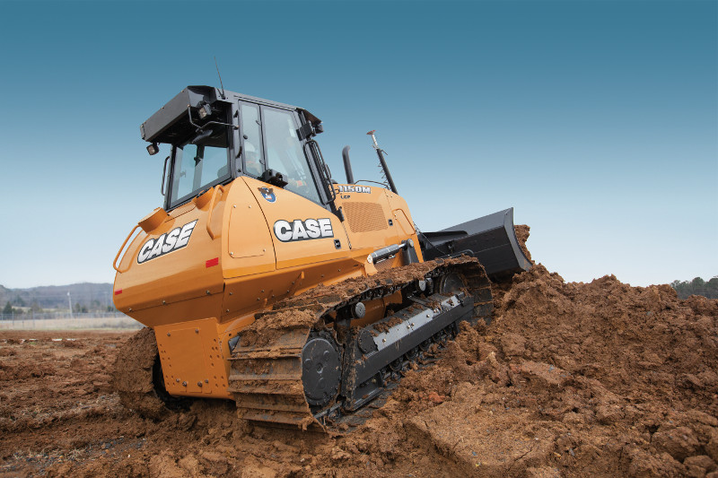 A yellow Case dozer