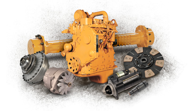 Remanufactured heavy equipment parts