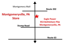 Montgomeryville, PA Eagle Power & Equipment location map