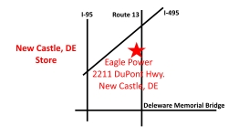 New Castle, DE Eagle Power & Equipment location map