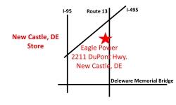 New Castle, DE Eagle Power & Equipment location map