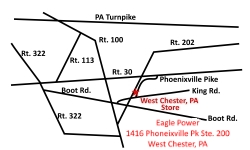 West Chester, PA Eagle Power & Equipment location map