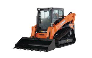 An orange Kubota skid steer