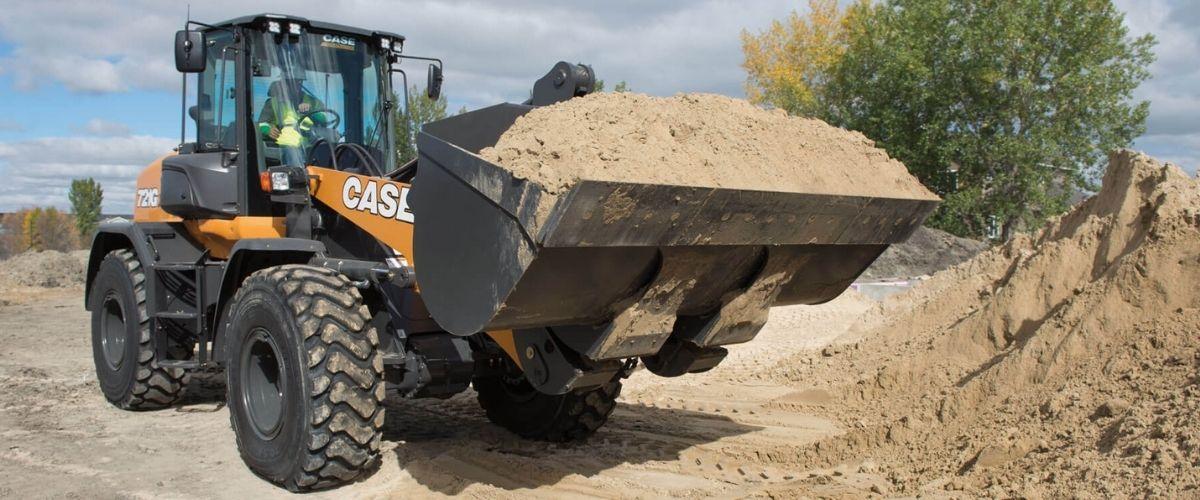 case loader and tire pressure