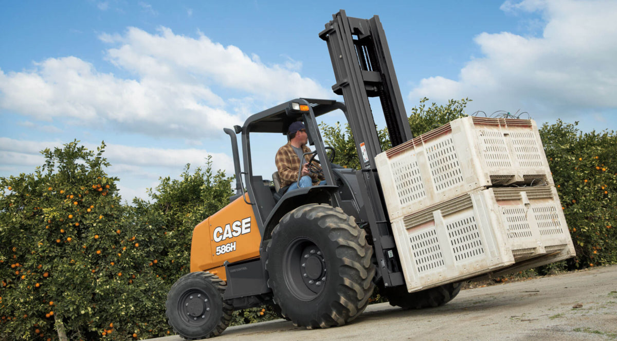 CASE rough terrain forklift from Eagle Power Equipment in Doylestown, PA